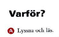 السؤال في اللغة السويدية